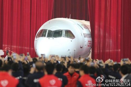 国产大飞机c919总装下线