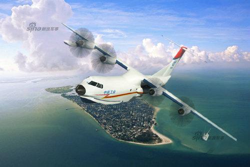 水陆两栖飞机AG600(蛟龙)效果图