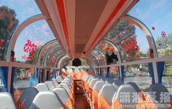 中南首台全通透观光车亮相长沙生态动物园